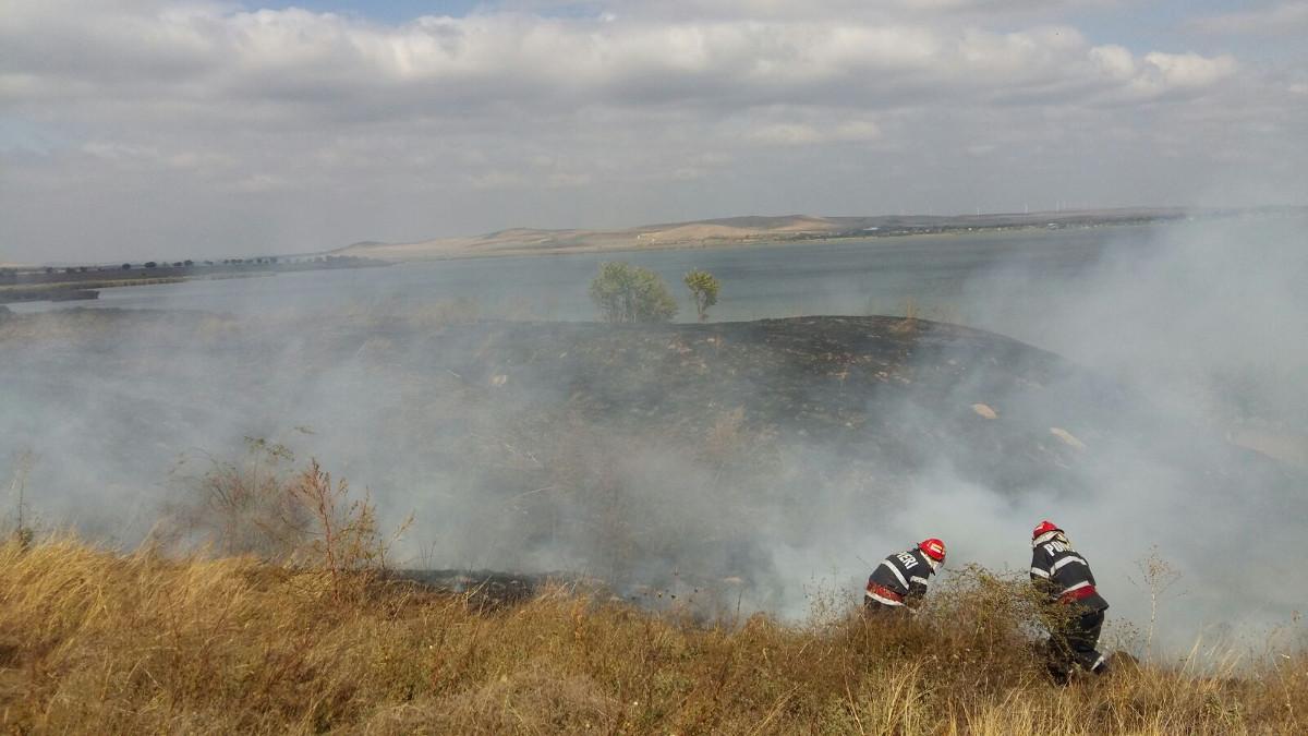 Incendiu vegetatie Babadag