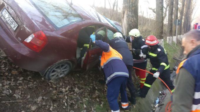 Echipele de descarcerare au intervenit la ieșire din Tulcea. FOTO ISU Delta