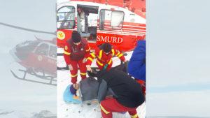 Elicopter smurd iarna cod gravida