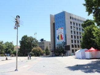 Consiliul Județean Tulcea și Piața Civică. FOTO Adrian Boioglu