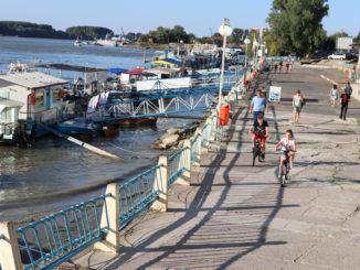 Faleza Dunării la Tulcea. FOTO Adrian Boioglu