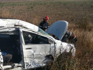 Accident rutier între Cataloi și Nalbant. FOTO ISU Delta