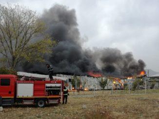 Incendiu masiv în localitatea Greci, Tulcea. FOTO Cătălin Schipor / TLnews.ro