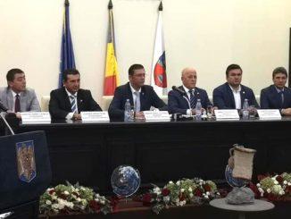 Conducerea CJ Tulcea și CJ Constanța, în ședință comună. FOTO CJT