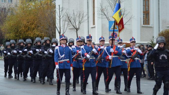 Jandarmii tulceni, la paradă. FOTO IJJ Tulcea