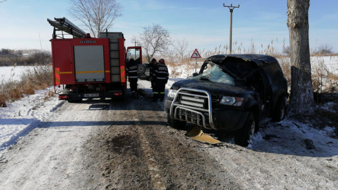 Accident rutier la Carcaliu. FOTO ISU Delta