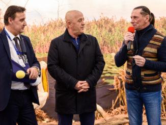 Cătălin Țibuleac, Horia Teodorescu și Ivan Patzaikin la Târgul de Turism al României. FOTO AMDTDD