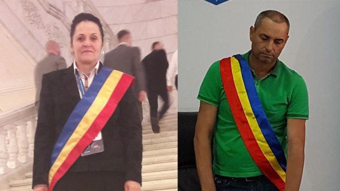 Maria Lența, primarul comunei Valea Nucarilor și Constantin Camburi, primarul din Beidaud. Colaj FOTO Tulcea NEWS