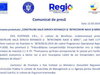 """Lansarea proiectului """"CONSTRUIRE HALĂ SERVICII REPARAŢII ȘI ÎNTREŢINERE NAVE ȘI BĂRCI"""""""