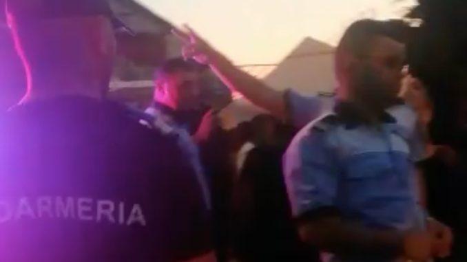 Acțiune a forțelor de ordine pe strada Timișoarei din Tulcea. FOTO Captură video