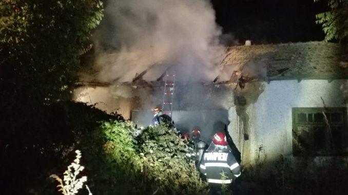 Incendiu în comuna tulceană Horia. FOTO ISU Delta