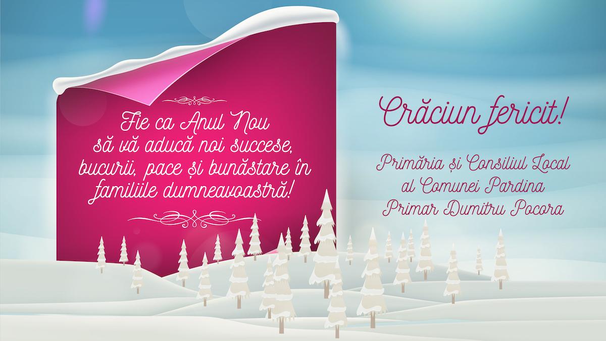 Felicitare Craciun 2019 – Primaria Pardina