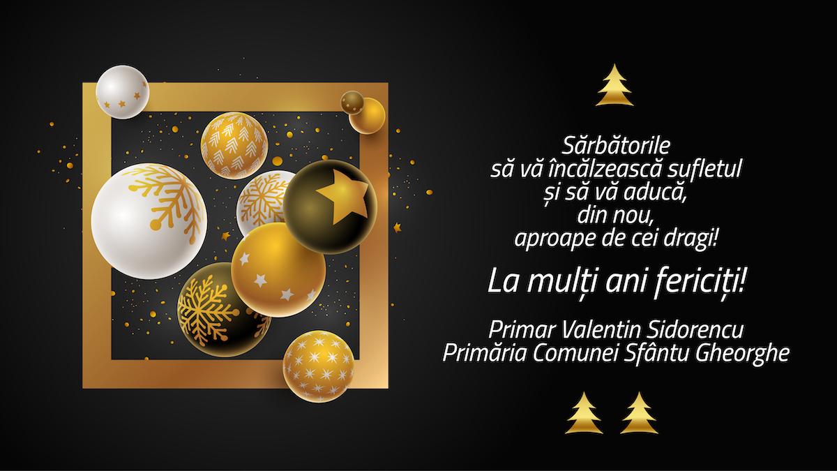 Felicitare Craciun 2019 – Primaria Sfantu Gheorghe