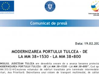 Modernizarea Portului Tulcea de la Mm 38+1530 la Mm 38+800