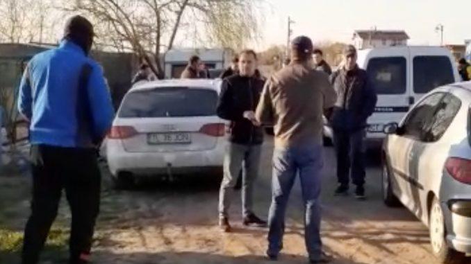 Protest la Murighiol împotriva unei tabere pentru românii întorși din Italia. FOTO Captură Video