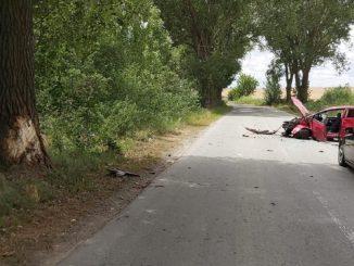 Bărbat rănit într-un accident pe DJ 222, în județul Tulcea. FOTO IPJ Tulcea