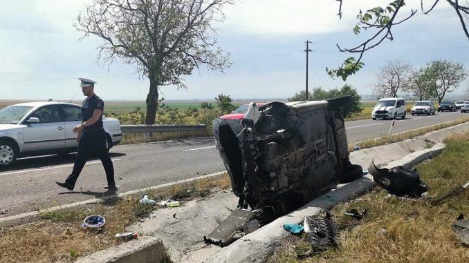 Grav accident rutier în apropiere de Babadag. FOTO IPJ Tulcea