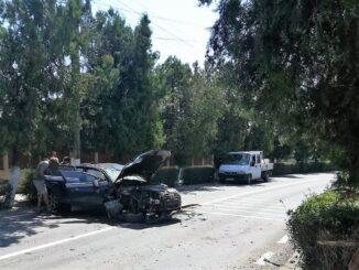 Persoană rănită în urma unui accident rutier în Isaccea. FOTO IPJ Tulcea